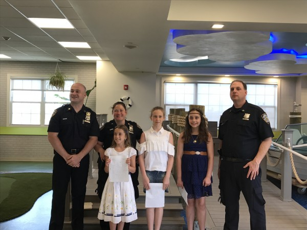 Essay Winners Joined by Police Officers from the 61st Precinct