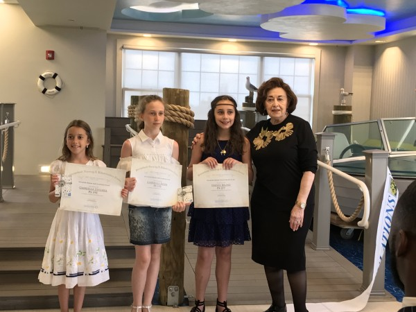 Essay Winners Joined by Mrs. Olga Lipschitz