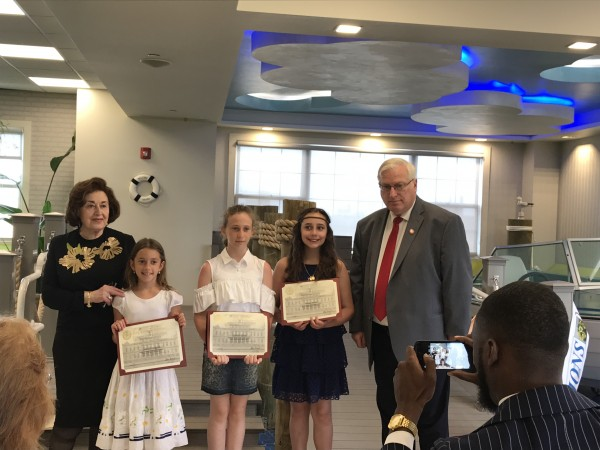 Essay Winners Joined by Councilman Alan Maisel