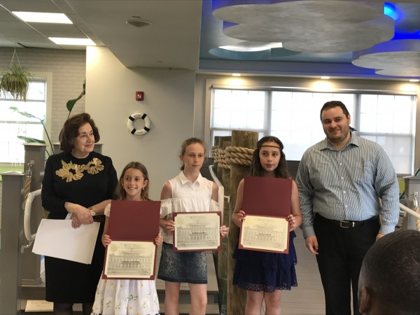 Essay Winners Joined by Alex Gershman, Case Worker from Councilman Chaim Deutsch's Office